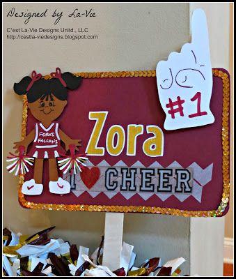 C'est La-Vie Designs Unltd., LLC: Embellished Cheerleader Spirit Signs and Noisemakers