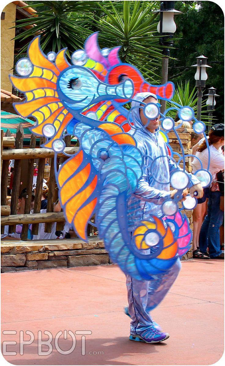 moving seahorse costume via EPBOT