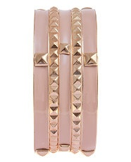 Biscuit (Stone ) Pyramid Stone Bangle | 234360315 | New Look