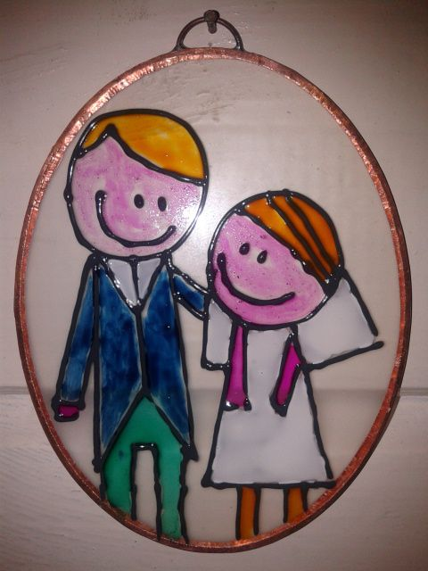 Couple on glass