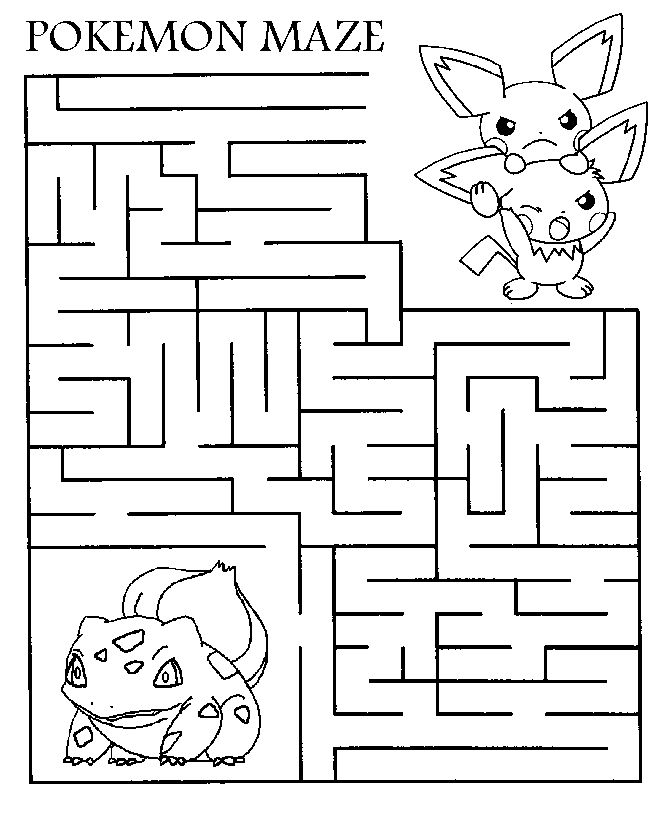 Hello Pokemon fans ehre is a printable maze for you all