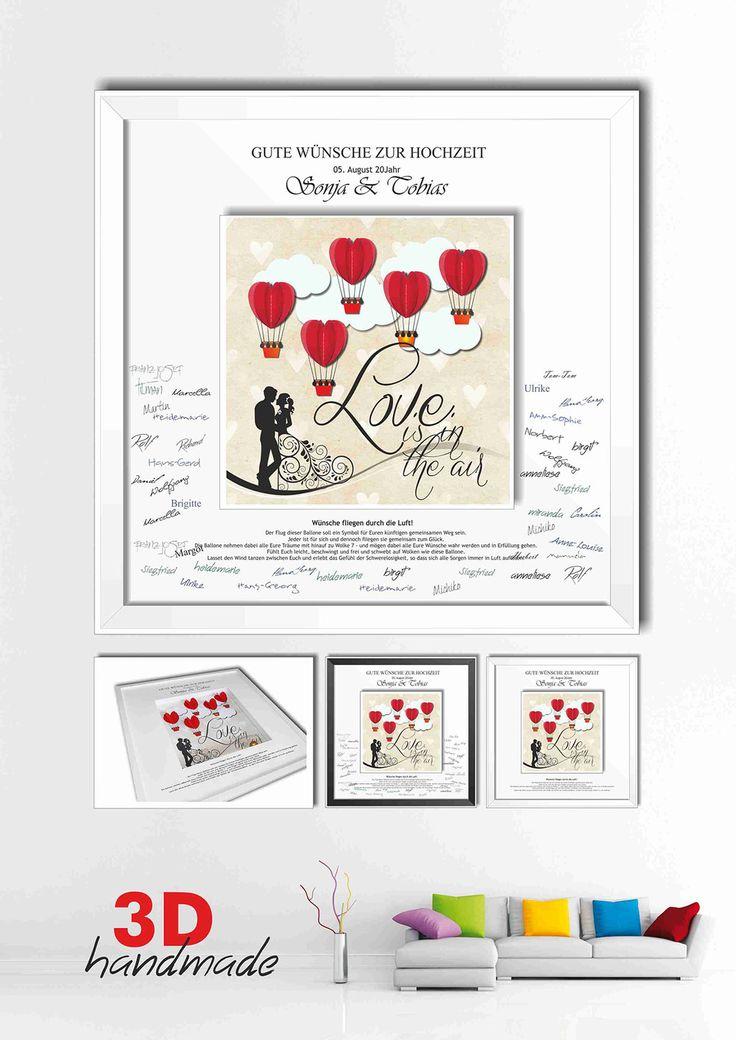 13 besten Bilderrahmen 3D Gästebuch Hochzeit DIY Geschenke Bilder
