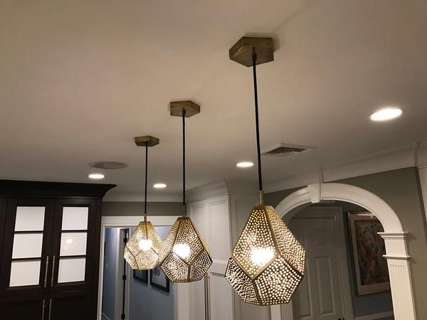 Almas pendant light brass