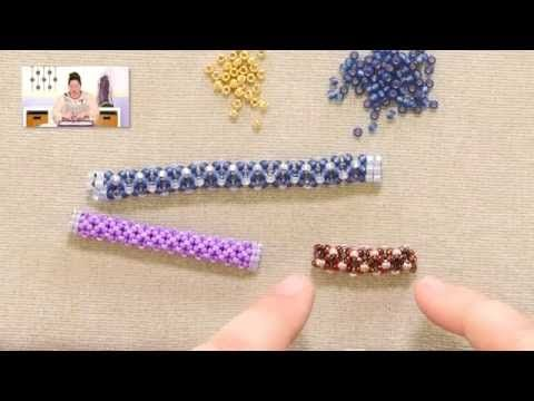 Tubular Chenille Stitch Without Border ~ Seed Bead Tutorials