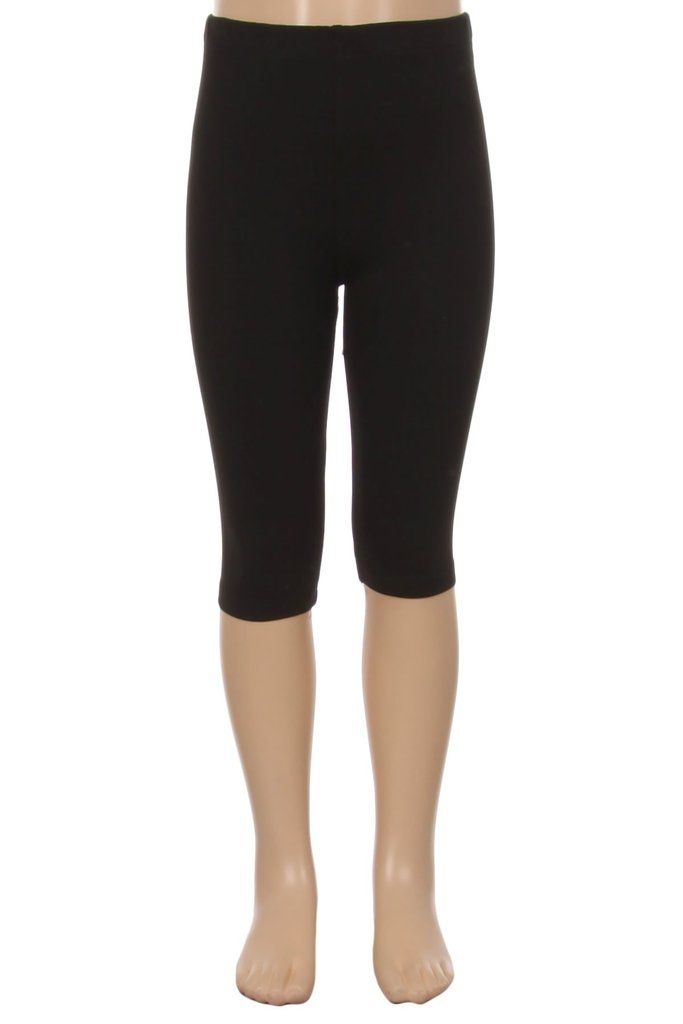 dcf581ab93bb8 Girl's Capri Black Legging | Free Shipping| MomMe And More – MomMe and More
