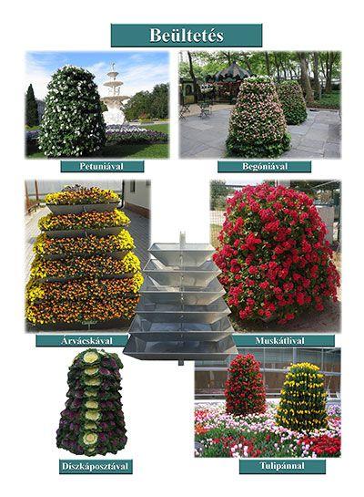 Virágtartó edények Kunbaracson