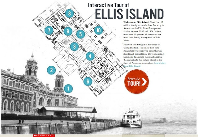 an interactive tour of ellis island by scholastic autos post