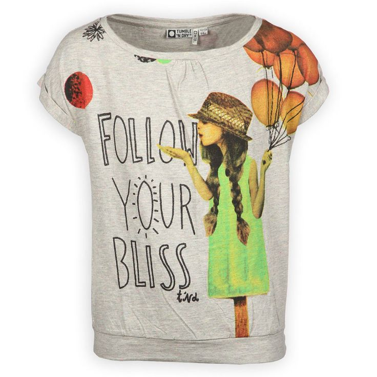 Kidsclothes Tumble N Dry Zomer 2014 | Meisjes shirt | Follow Your Bliss | Kinderquotes | www.kienk.nl