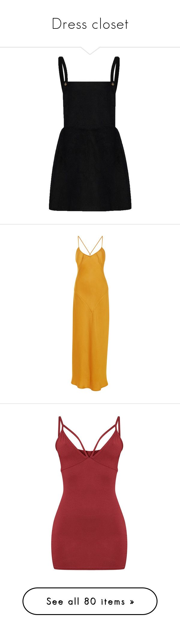 """""""Dress closet"""" by nazarahwiggins on Polyvore featuring dresses, overalls, pinny dress, square neckline dress, square neck dress, pinafore dress, maxi dress, gold, tie-dye maxi dresses and crepe dress"""
