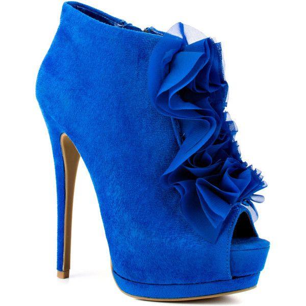 ZiGi Girl Skip - Blue Suede ($120) ❤ liked on Polyvore