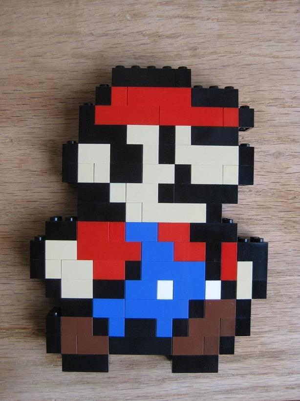 LEGO custom kit: Super Mario Bros 3 little Mario running. $15.00, via Etsy.