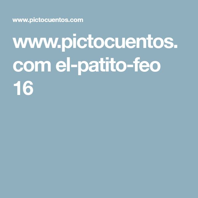 www.pictocuentos.com el-patito-feo 16