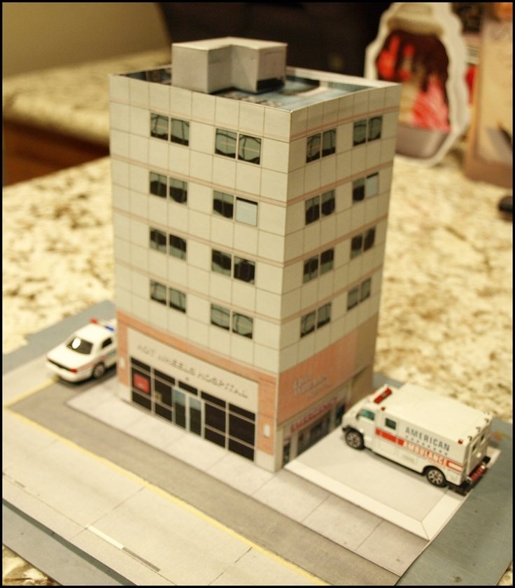 Hot Wheels General Hospital Paper Build For Any 1:64 Scale
