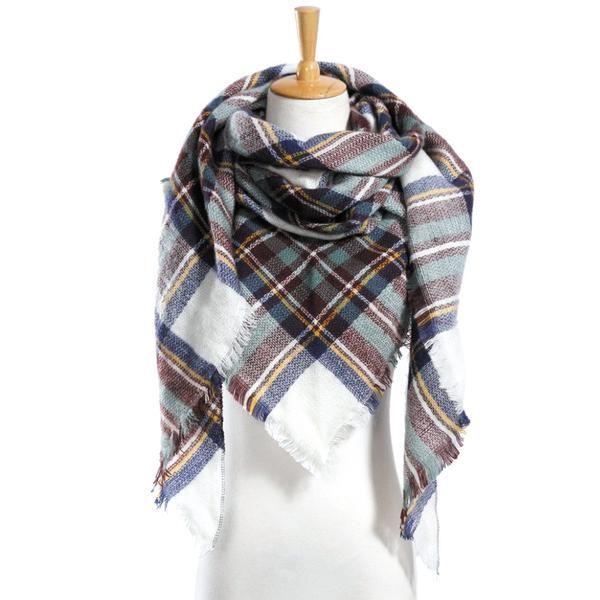 Cashmere Silk Scarf - TWISTED PATTERN SILKSCARF by VIDA VIDA q4r8cTLS
