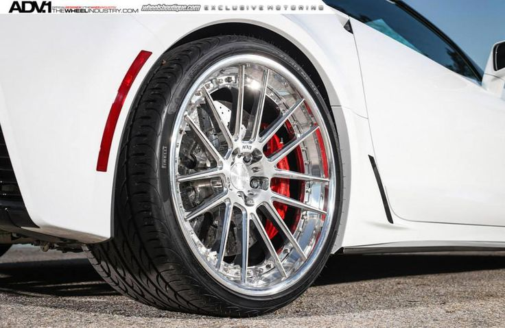 [PICS] Shock and Awe: Arctic White Corvette Z06 on Polished Aluminum ADV.1 Wheels