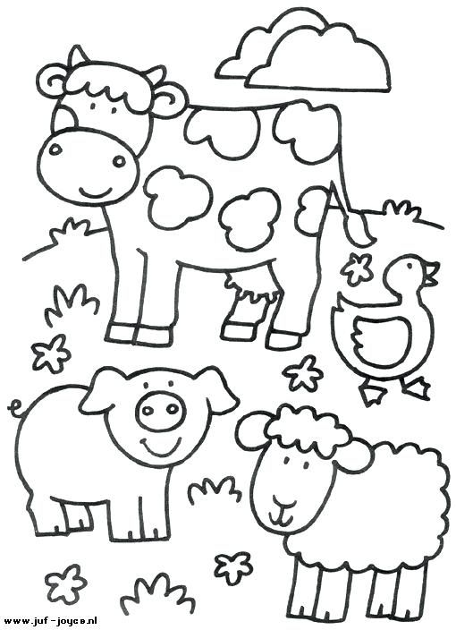 animal coloring pages printable farm animals colouring