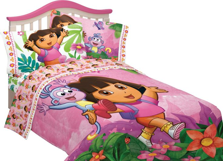 Dora The Explorer Bedroom Set Part - 40: Dora The Explorer Bedding Comforter Fitted Sheet Flat Sheet PIllowcase