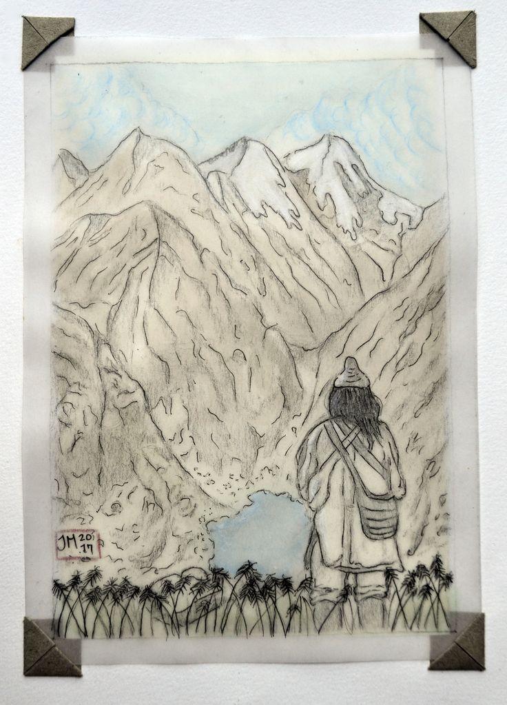 Sierra Nevada de Santa Marta♥/ Postales/ Acuarela y lápiz sobre pergamino por Jessica Millan G