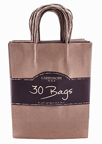Kraft Paper Gift Bags With Handles Best For Birthday Ping Whole Merchandise Wedding Party Favor Reusable Durable Small Brown