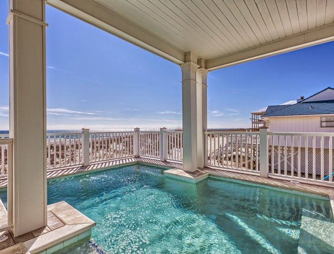 House of Turquoise: The Veranda - Gulf Shores, Alabama  Love the pool half under the balcony above