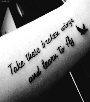 Cool Arm Quote Tattoos for Girls - Black Arm Quote Tattoos for Girls...Blackbird-The Beatles