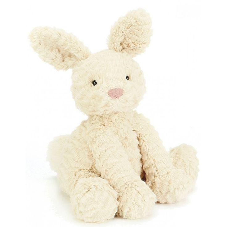 Easter: JellyCat Fluffy, warm and tickletastic, Fuddlewuddle Bunny can't wait to tumble about in the grassy meadow! His puffy bobtail and plump ears make him a fuddlewuddly good present for any bunny fans.