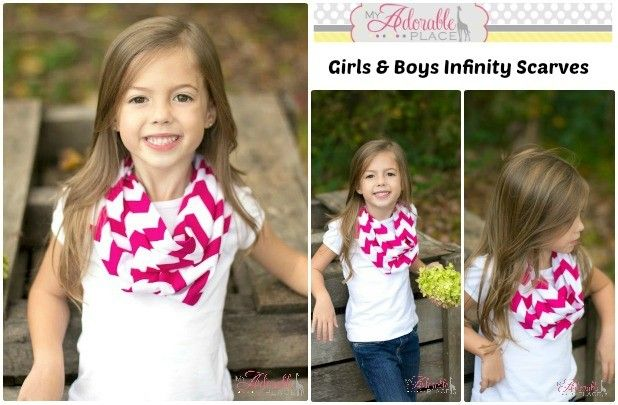 Girls Chevron Scarves in 17 Colors! 64% off at Groopdealz