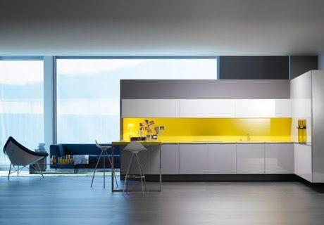 modern yellow kitchen - Google Search