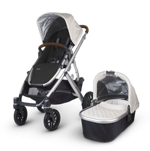 Uppababy Vista 2017 Loic (White/Silver/Leather)