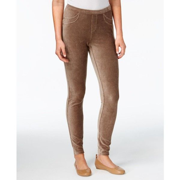 Style & Co Petite Corduroy Leggings, Created for Macy's ($30) ❤ liked on Polyvore featuring pants, leggings, willow bark, style&co leggings, petite white leggings, white corduroy pants, petite leggings and white skinny pants
