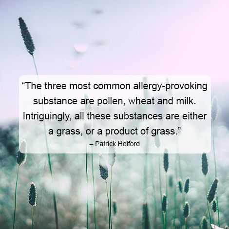 It may be worth your while to avoid wheat and dairy products during hay fever season.
