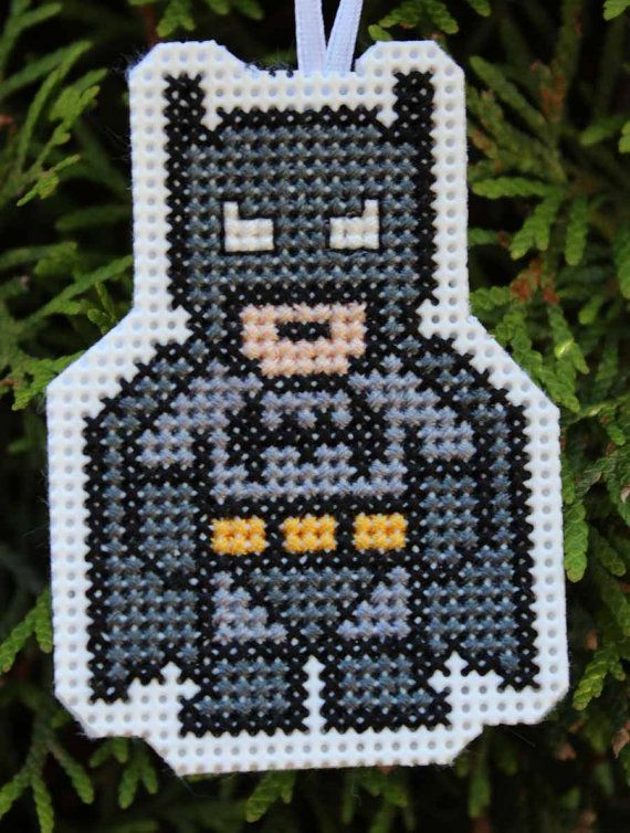 Handmade Batman Cross Stitch Christmas by IttyBrittyNeedle on Etsy