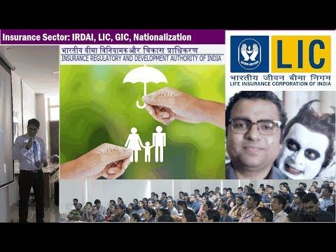 Insurance Sector: IRDAI, DICGC, LIC, GIC, Nationalization, Reforms, Ombudsman.    [sociallocker][/sociallocker] meaning and significance of insurance industry, origin and evolution in India and abroad. - Insurance industry in India before and after independence, ... source