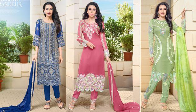 Catalog Name : SS2526 – Eungrez    Designs : 8 MOQ : Full Catalog http://www.ekhantil.com/eungrez-karishma-kapoor-georgette-salwar-suit/ #kurti#kurtis#salwar#salwarsuit#salwarkameez#anarkali#replica#dress#dressmaterial