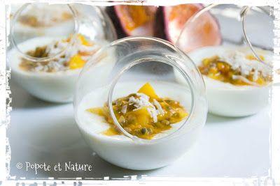 Verrines légères à la mangue, aux fruits de la passion et au fromage blanc © Popote et Nature