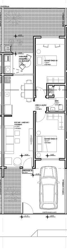Montanari Arquitetura: Casas Geminadas Pequenas (trabalhando com áreas mínimas de terreno)