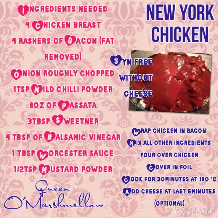 New York Chicken Syn Free Without Cheese On Slimming