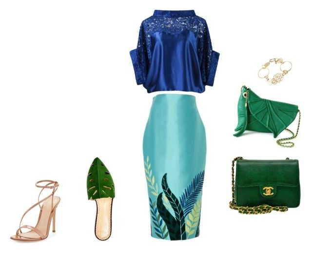"""SR2"" by alevtinatina on Polyvore featuring Charlotte Olympia, Martha Medeiros, Gianvito Rossi and Chanel"