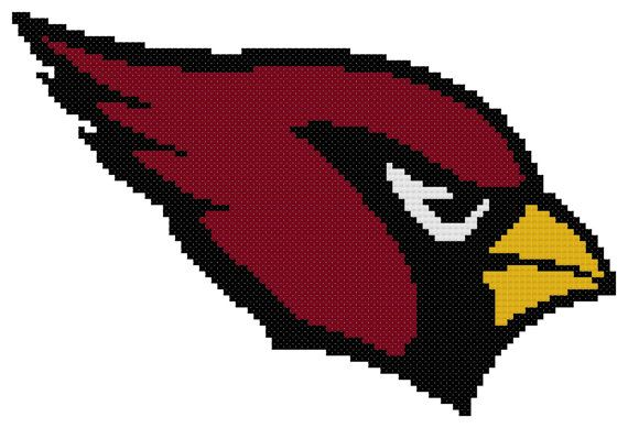 Counted Cross Stitch Pattern, Arizona Cardinals Logo, Instant Download, PDF Pattern, Hand Designed by Dreamy Memories