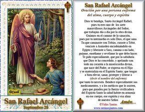SANTORAL CATOLICO: Oración a San Rafael Arcángel