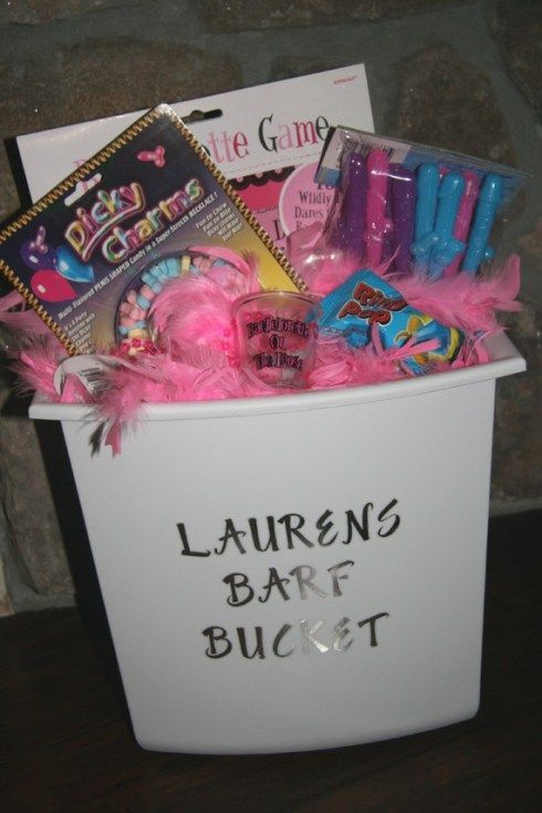 bachelorette gift ideas | you can get all the stuff you need for your own bucket at www.therightsideofthebed.com