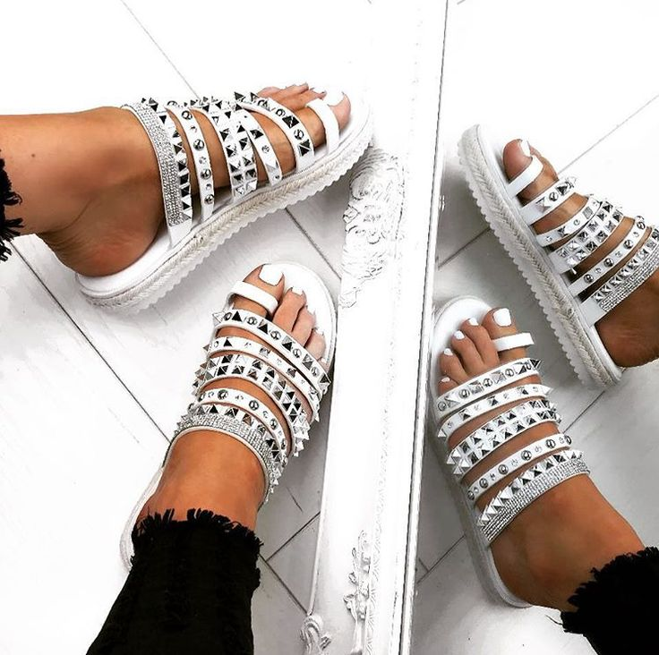 c6b1b0569862 Restocked Ready For The Bank Holiday Weekend 💃🏼 🔎KHLOE White Stud  Espadrille Sandals