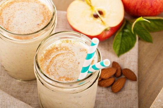 HEALTHY APPLE CINNAMON SMOOTHIE RECIPE  Healthy Apple Cinnamon Smoothie Recipe. You can't go wrong with the classic combo of apples & cinnamon! Great taste & an easy, low calorie to go breakfast.