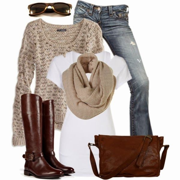 Casual Outfits | Sweater and Scarf