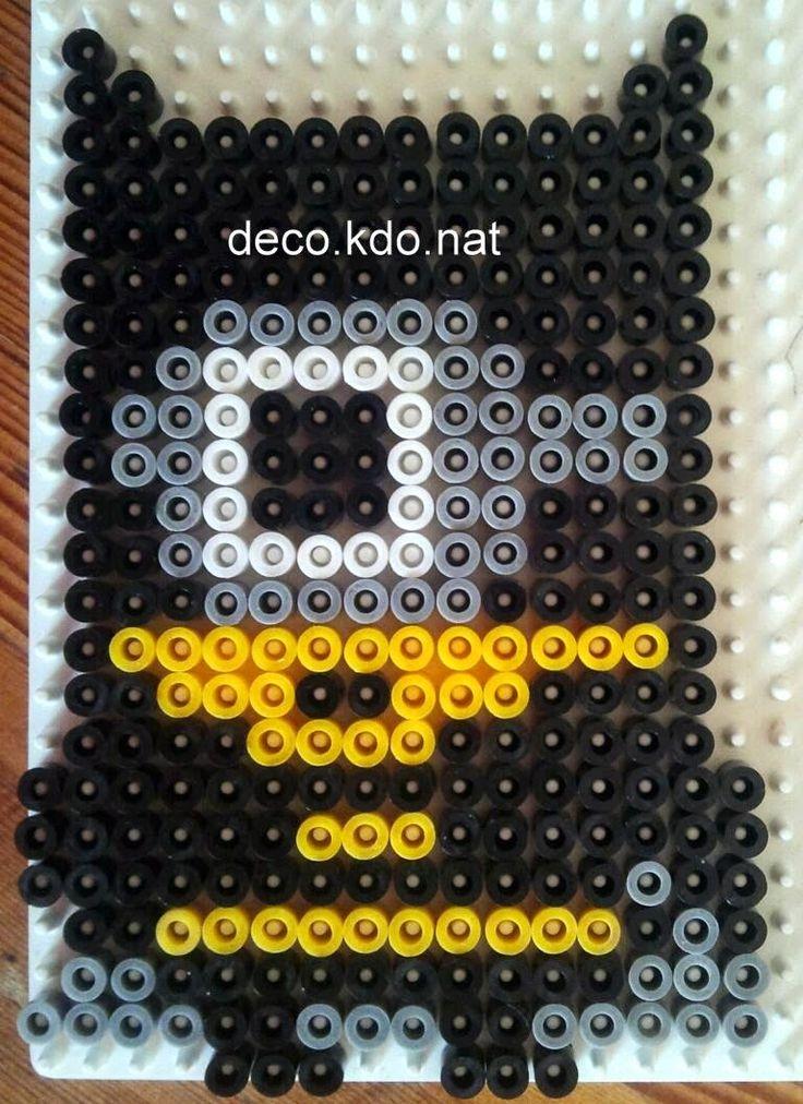 Batman Minion hama perler beads by Deco.Kdo.Nat