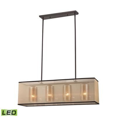 "Elk Lighting 57028/4-LED Diffusion - 34"" 38W 4 LED Chandelier"