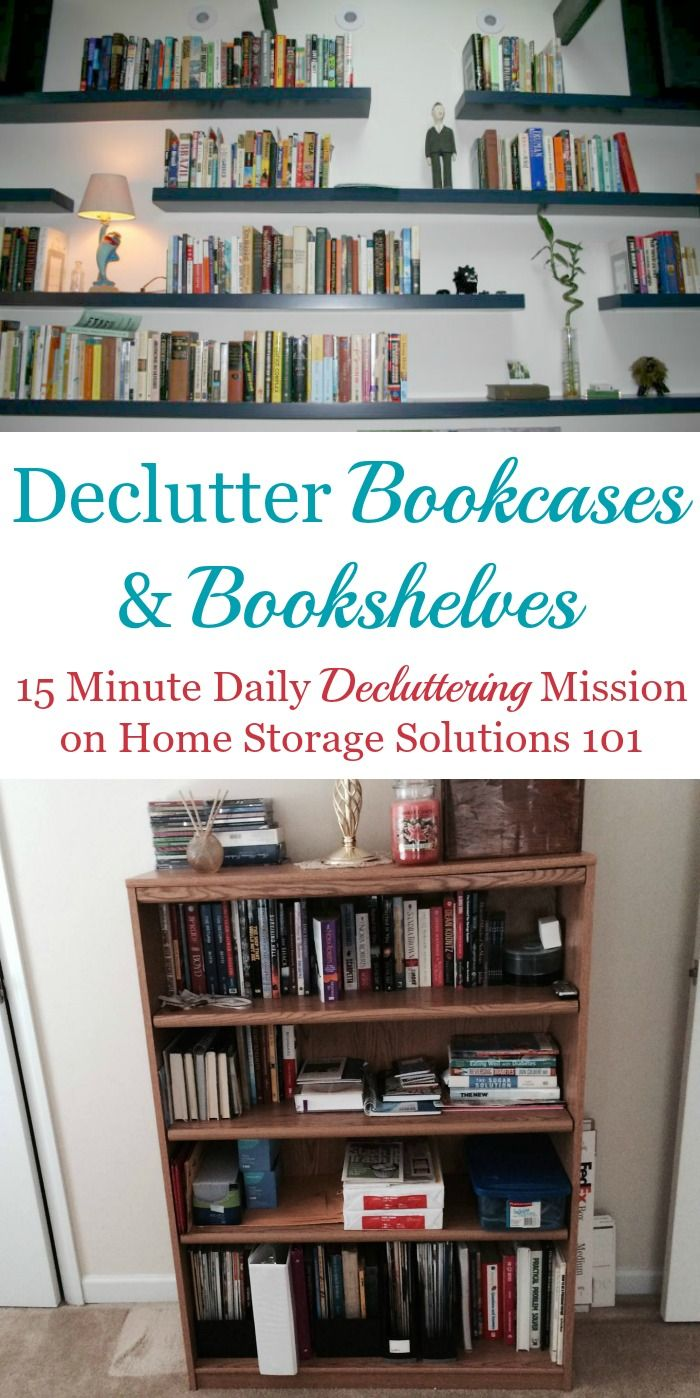 How To Declutter Bookcases Bookshelves Home Storage Solutions