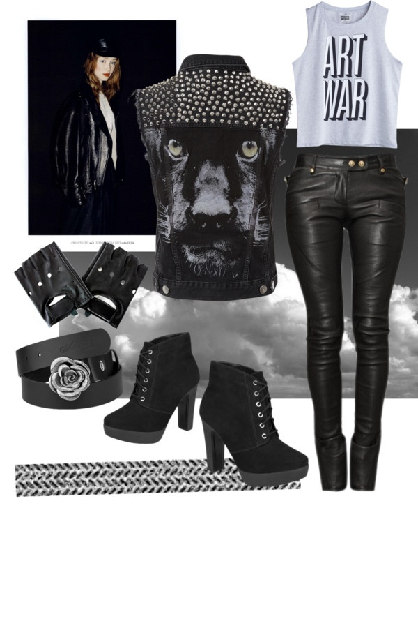"""Girl on a motorcycle"" by bosi-accesorios on Polyvore"