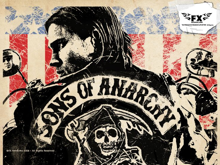 Sons Of Anarchy. Think Sopranos on choppers and you are roughly in the ballpark of this particular visceral white knuckle, Fight Club on wheels, thrill ride of unapologetic manliness.
