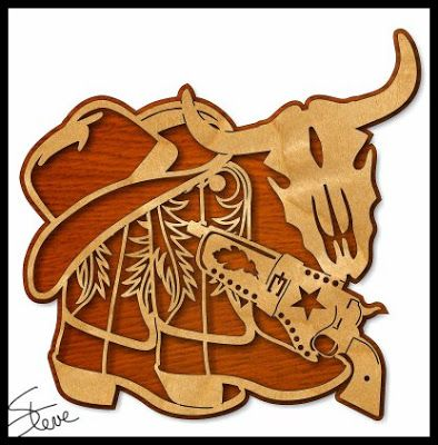 Cowboy Art Scroll Saw Pattern.